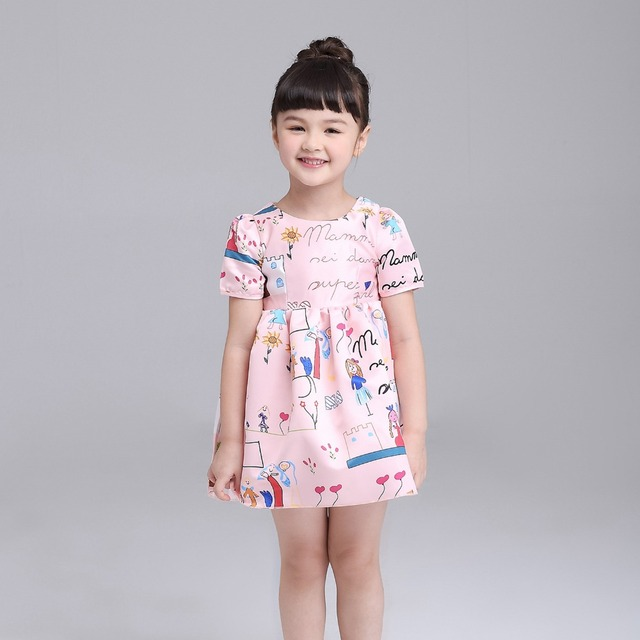 b40bc72b8 Little Girls Dresses 2016 A Line Princess Dress Baby Girl Clothes ...