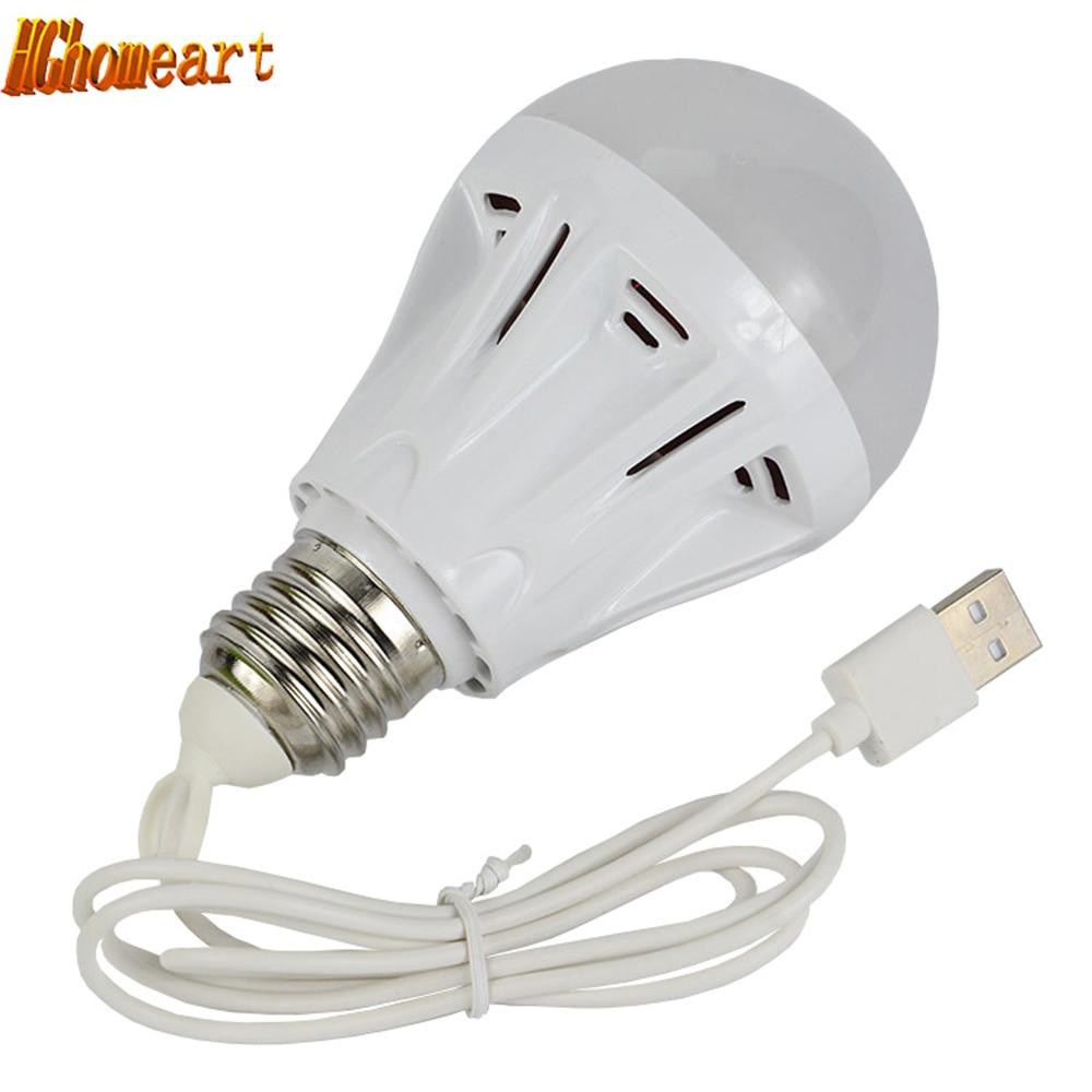 HGhomeart Portable Power Bank USB 12V 3W 5W 7W LED Light Bulbs Home Lighting Light-emitting Diode Led 12v Night Light Lamp