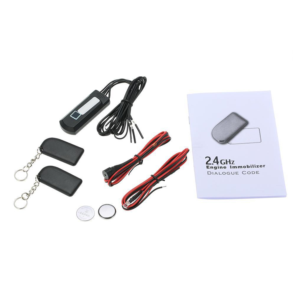 2.4 GHz Car Anti Theft Security Kit Car Alarm Immobilizer Circuit Cut Automobile Car Parts
