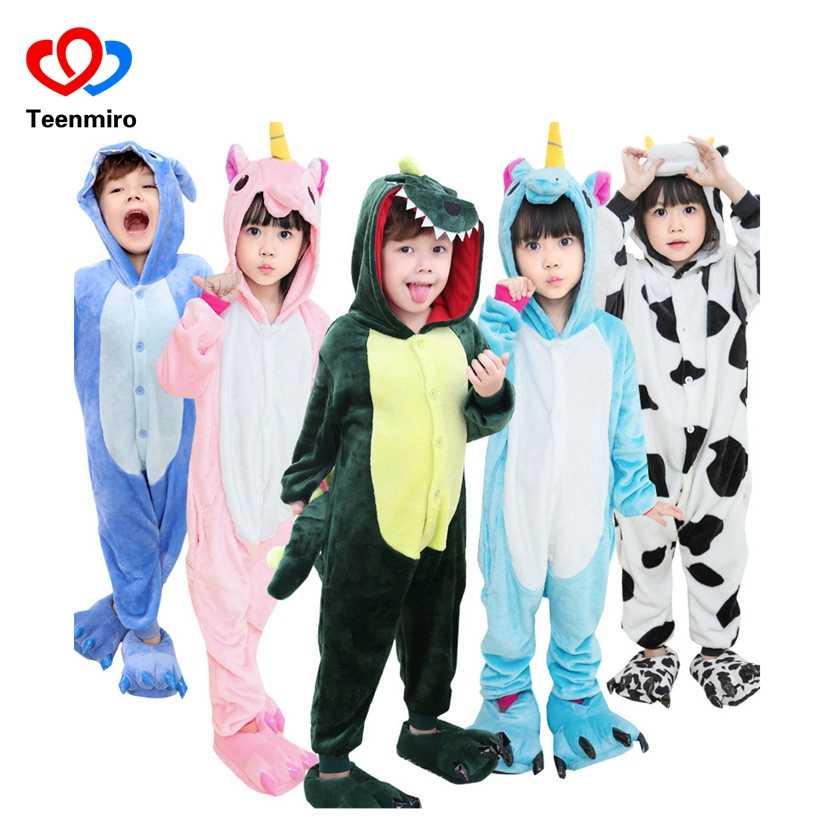 406fed201c Kids Panda Robes Pokemon Cat Dog Boys Girls Pajamas Bathrobe Children  Flannel Hoodie Sleepwear Robe Enfant