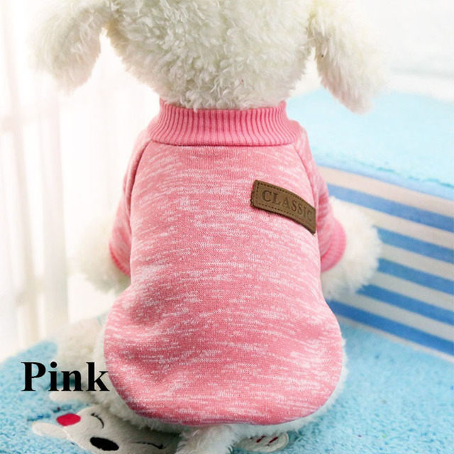 Classic Warm Dog Clothes Puppy Pet Cat Clothes Sweater Jacket Coat Winter Fashion Soft For Small Dogs Chihuahua XS-2XL 1