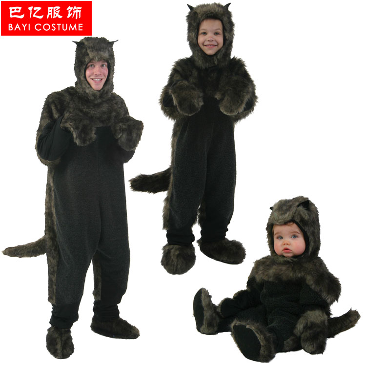 bayi hot wolf halloween costume adult children cosplay costume for carnival party top qualitychina - Wolf Costume Halloween