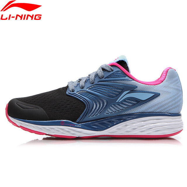 Li-Ning Women's LN CLOUD IV PLUS Running Shoes Professional Cushioning Breathable Sneakers LiNing Sport Shoes ARHM026 XYP541