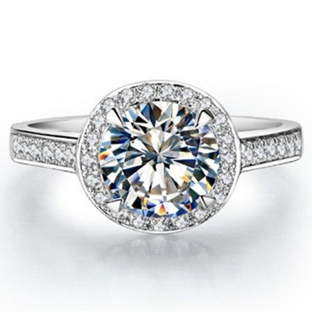 Положительный Результат теста Подлинная Марка Пользовательские 1CT Стерлингового Серебра Ювелирные Изделия Кольца Муассанит Бриллиантовое Обручальное Кольцо для Женщин S925