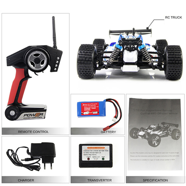 WLtoys A959 Electric Rc Car Nitro 1/18 2.4Ghz 4WD Remote Control Car High Speed Off Road Racing Car Rc Monster Truck For Kids 5