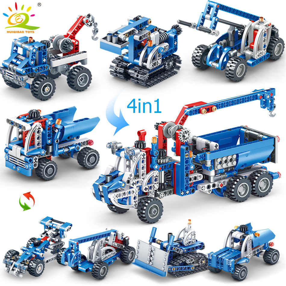 Engineering Lifting forklift crane Building Blocks Compatible Technic truck Brick City Construction Toys For children