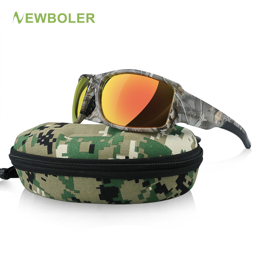 NEWBOLER Camouflage Polarized Fishing Glasses Men Women Cycling Hiking Driving Sunglasses Outdoor Sport Eyewear De Sol Camo feidu мода steampunk goggles sunglasses women men brand designer ретро side visor sun round glasses women gafas oculos de sol