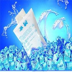 10 шт./лот дешевые 400 мл изолированные в-индивидуальные многоразовые сухой охлаждающий ледяной пакет гелевая сумка-холодильник для ланча кор...