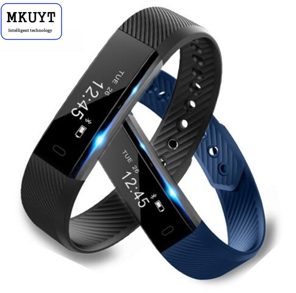 MKUYT ID115 Smart Bracelet Fitness Tracker Step Counter Activity Monitor Band Alarm Clock Vibration Wristband No