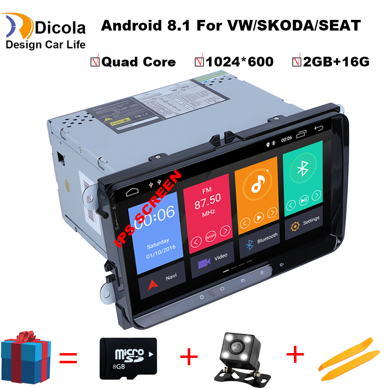 IPS HD 2 Din 9 inch car dvd for <font><b>VW</b></font> POLO GOLF MK5 MK6 PASSAT B6 <font><b>JETTA</b></font> TOURAN TIGUAN With GPS Navigation Radio SWC Bluetooth 4G image
