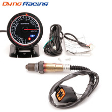 Dynoracing 60MM 12V Car Air Fuel Ratio Gauge & Narrowband Oxygen Sensor O2 Rear for 01-06 Hyundai 2.0L Meter