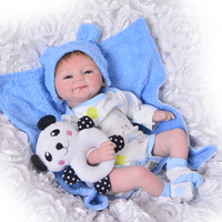 KEIUMI 17 inch Born Babies Reborn Doll Realistic Girl and Boy Twins Soft Silicone Baby Reborn Boneca For kids Birthday Gifts