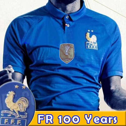 bb28088ac France soccer jersey 2 stars 1919-2019 Special Edition Centenary 100 ans  Pogba Griezmann long