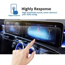 RUIYA (2Packs) screen protective film for Mercedes Benz A-Class w177 10.25inch car navigation screen,9H tempered glass protector