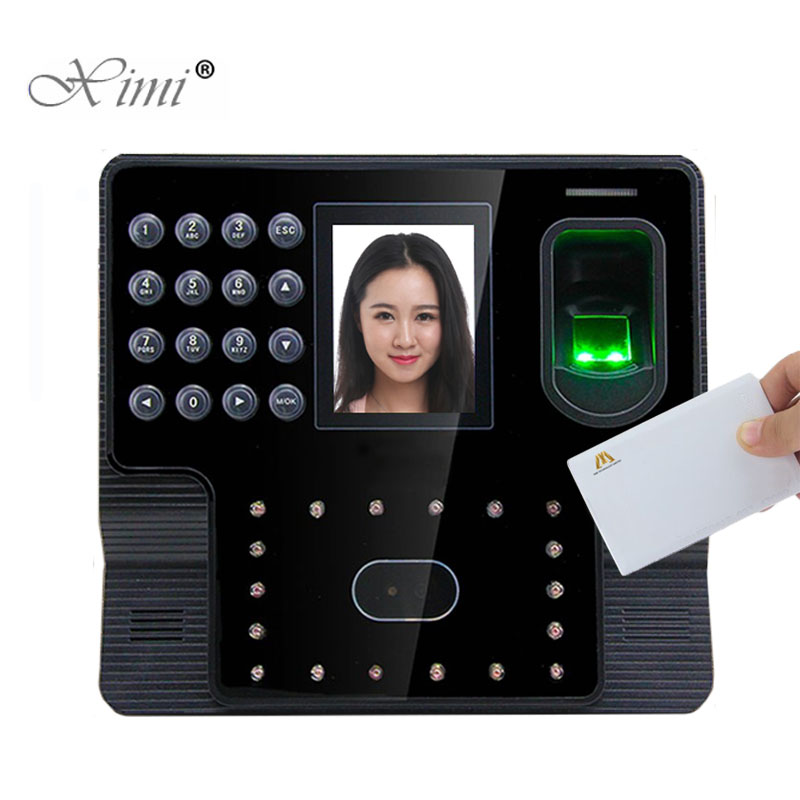 TCP/IP USB Face And Fingerprint Time Attendance Time Clock With MF IC Card Reader 3