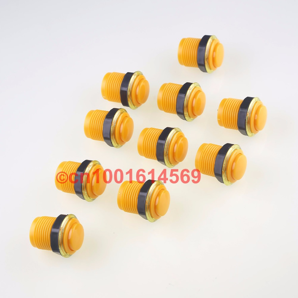 Reyann 10x 35mm Arcade Push Buttons DIY Kits Parts For PC Controller Computer Game & MAME Project & Retropie 3B 4 Color - Yellow ...