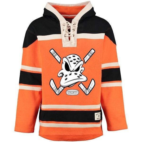 Hockey Pullover Mighty Ducks Jersey Persönlichkeit gestaltet Irgendein Name Jede Numeber Genäht Männer Hoodie Pullover Ice Hockey Jersey