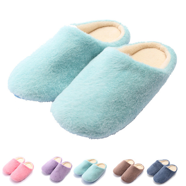 e612e4c96868 Women Men Home Slipper Winter Plush Soft Sole Antiskid Indoor Floor Lovers Slippers  Warm Foot Mens Womens Fleece Plush Shoe
