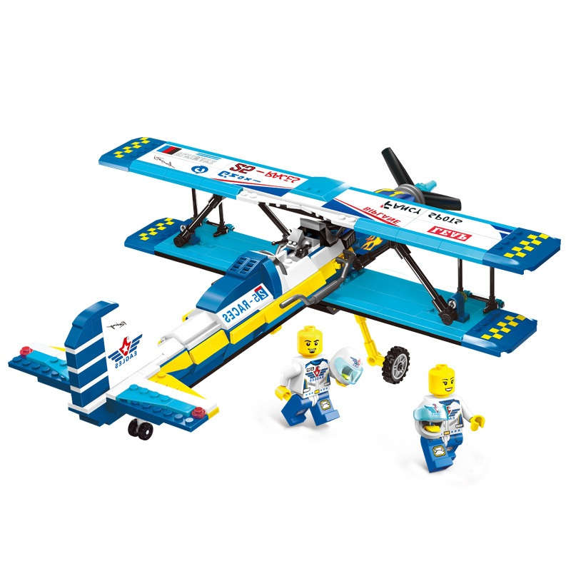ENLIGHTEN City Series Double Wings Show Aircraft Building Blocks Sets Bricks Model Kids Toys For Children Compatible Legoings 2017 enlighten city bus building block sets bricks toys gift for children compatible with lepin