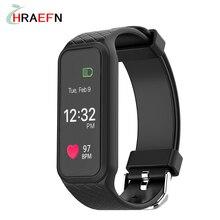 Hraefn L38I Bluetooth Умный Браслет Динамический Монитор Сердечного ритма sport браслет Полноцветный TFT-LCD Экран Smartband Для IOS Android