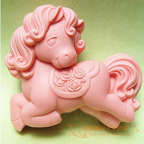 Horse Silicone Soap mold DIY Handmade Craft 3d soap molds S188