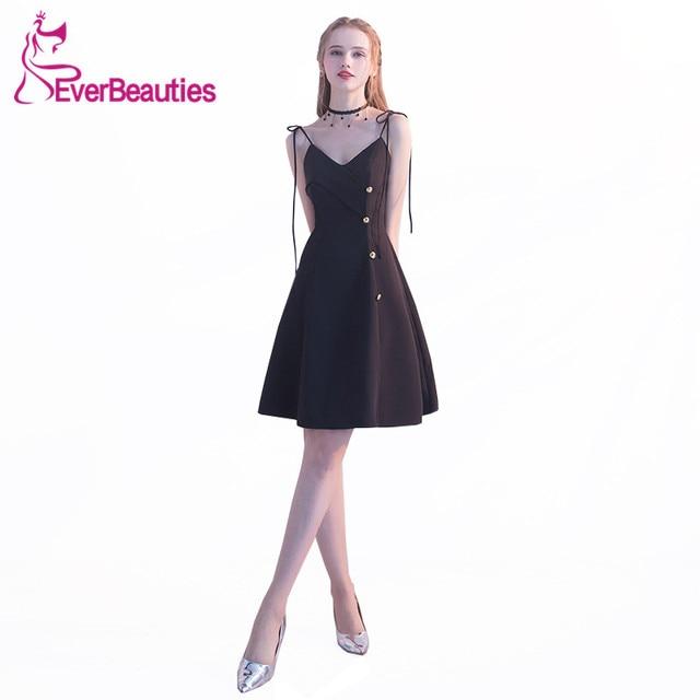 New Little Black Dresses Evening Gowns 2018 Black Prom Dress ...