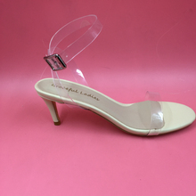 Ankle Strap Transparent PVC Women Sandal 6cm Low Heel Shoes Women Stilettos Open Toe Real Photo Fashion Ladies Shoes 2016