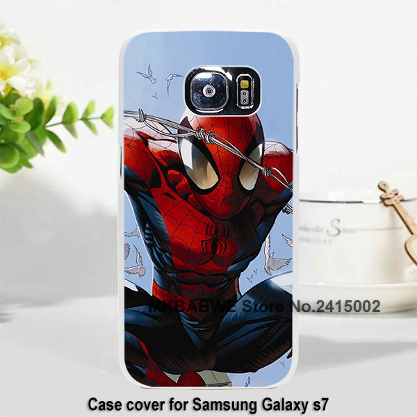 <font><b>comics</b></font> <font><b>spider</b></font> <font><b>man</b></font> flying <font><b>case</b></font> cover for <font><b>Samsung</b></font> <font><b>Galaxy</b></font> s7 s6 edge s5 note7 note5 Plastic hard white <font><b>case</b></font>