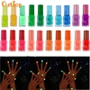 OutTop Nail Polish 20 Color Fluorescent Neon Luminous Gel Nail Art Polish For Glow In Dark Nail Varnish Manicure Sep14 Drop Ship
