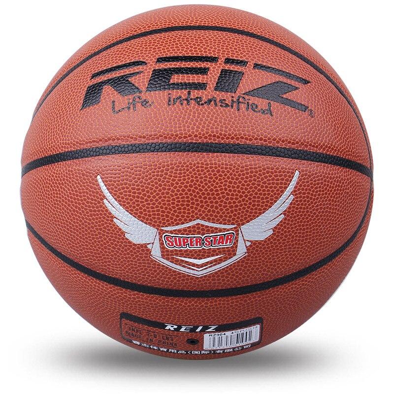 Reiz 904 Outdoor Basketball PU Leather Basketball 4# Non-slip Basketball Wear-resistant Basketball With Free Gift Net Needle