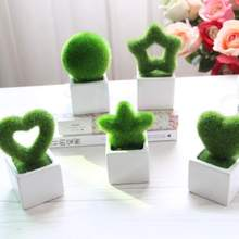 Simulation Small Tree Potted Artificial Plant Flocking Crafts Flower Home Decoration Supplies