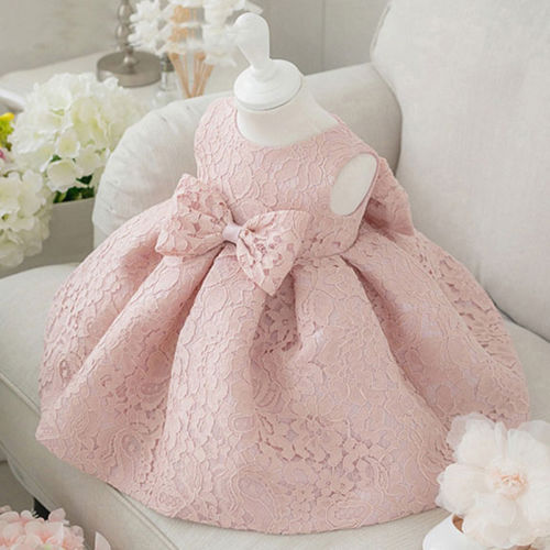 UK Flower Girl Dress Princess Wedding Bridesmaid Pageant Lace Formal Gown Skirt