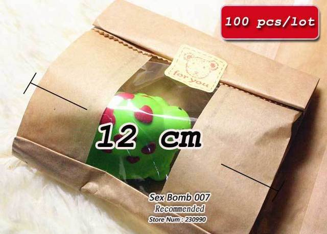 Wholesale 100pcs Lot Cheap Mini Kraft Transparent Packing Bag Gift Pack Brown Paper