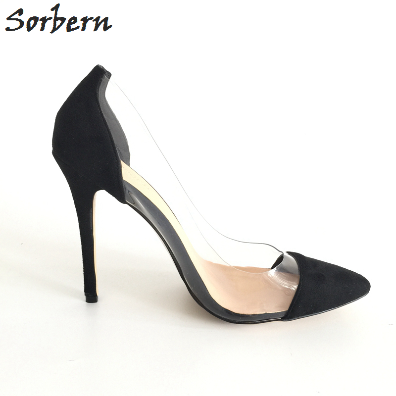 Sorbern Plus Size Women Pumps Zapatos Mujer Ladies Party Shoes Real - Damesko - Bilde 4
