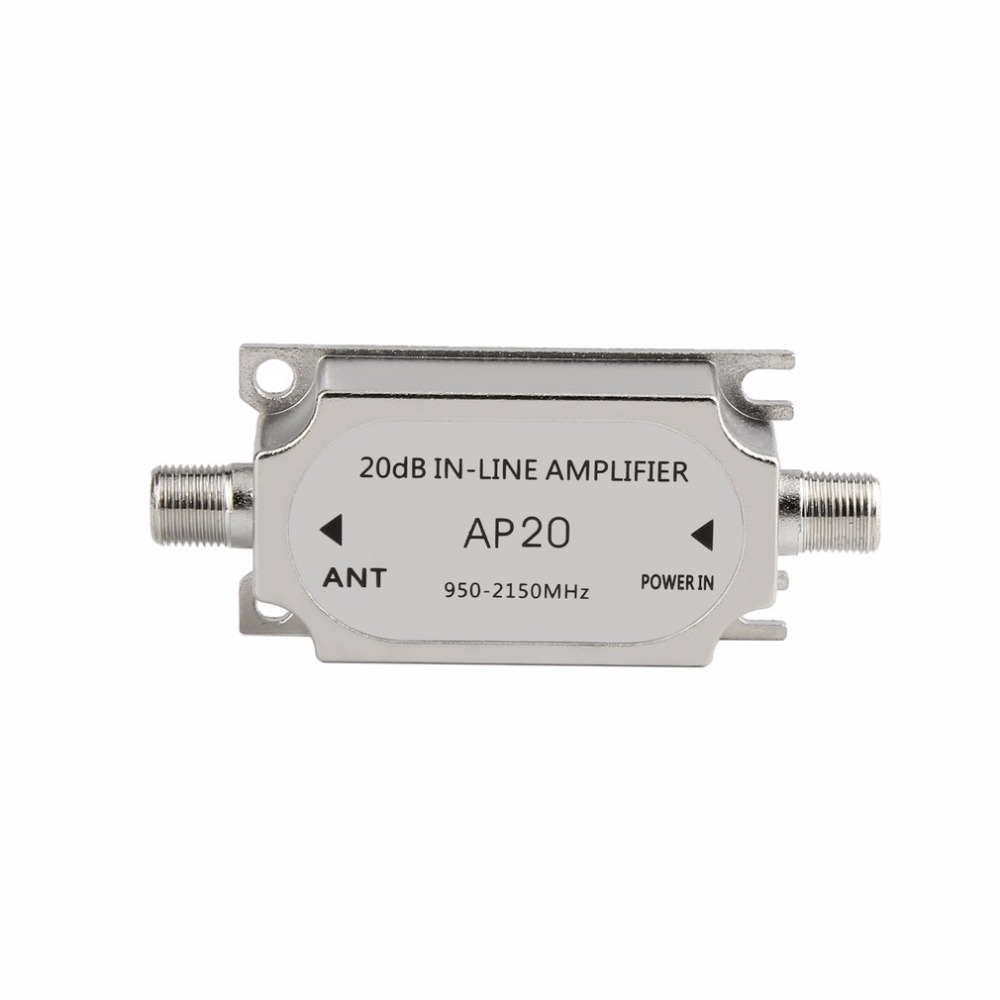 Newest Satellite 20dB  Inline Amplifier Booster 950-2150MHZ Signal Booster For Dish Network Antenna Cable Run Channel Strength