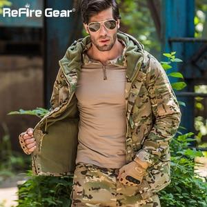 Image 4 - ReFire ציוד חורף הסוואה טקטי מעיל גברים עמיד למים חם עבה אוניית צמר מעיל רוח סלעית צבא שדה צבאי מעיל