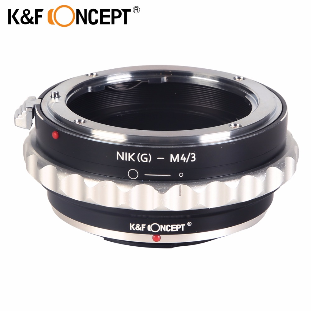 K&F CONCEPT Lens Mount Adapter for Nikon G AF-S F Lens to Micro 4/3 M4/3 Mount Adapter GF2 GF3 G2 G3 GH2 E-PL3 PM1