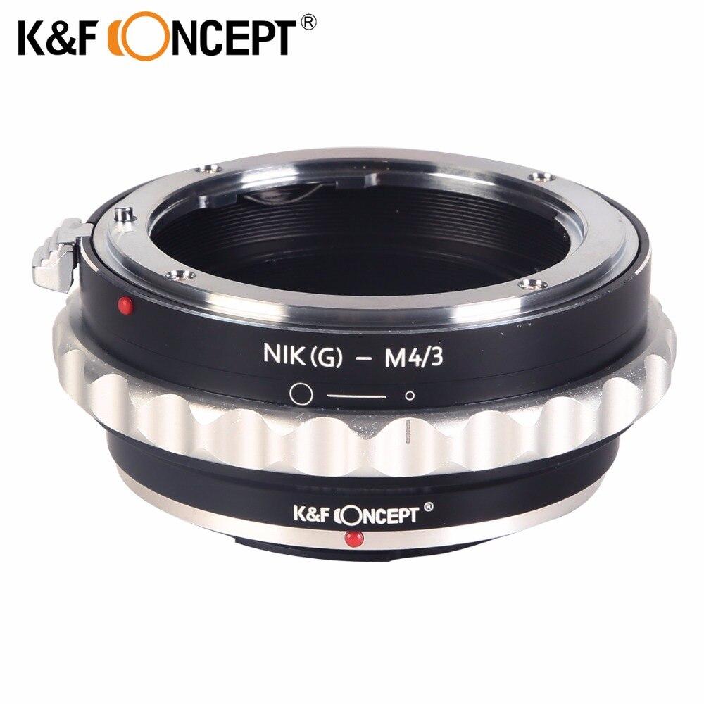 K & F CONCEPT Lens Mount Adapter pour Nikon G AF-S F Lens pour Micro 4/3 M4/3 Mount Adapter GF2 GF3 G2 G3 GH2 E-PL3 PM1