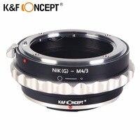 K&F CONCEPT Lens Mount Adapter for Nikon G AF S F Lens to Micro 4/3 M4/3 Mount Adapter GF2 GF3 G2 G3 GH2 E PL3 PM1
