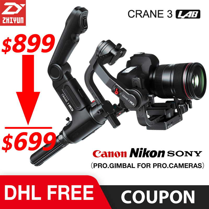 Zhiyun Crane 3 Lab 3 axis Gimbal Stabilizer for Nikon D850 gimbal dslr camera Sony A9