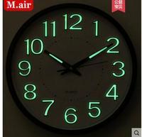 032198 digital wall clock night clocks numbers luminous modern design times hours quartz quiet mute
