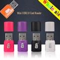3 unidades/lotes kawau c286 cartão máximo apoio leitor de cartão usb 2.0 microsd 64 GB de Alta Qualidade USB mini Adaptador de cartão de memória TF cartão