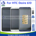 Black White Blue For HTC Desire 610 D610 LCD Display Touch Screen Digitizer Full Assembly Repair Parts with Bezel Frame+Tools