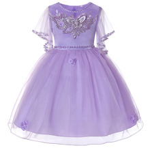 2019 New Formal Princess Dress For Girls White Pink Kid Girls Wedding Birthday Party Ball Gown For 2-12 Years Girls Summer Dress summer dress girls wedding
