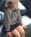Корейский девушки парни свитер высокого класса блестками толстовки 1-5 лет