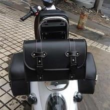 Для Harley Sportster XL883 XL1200 универсальный мотоцикл седельная сумка Модель сторона из искусственной кожи чемодан седло сумка для хранения инструмент сумка