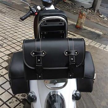 Dla Harley Sportster XL883 XL1200 uniwersalny motocykl sakwa Model boczny PU skórzany bagaż torebka podsiodłowa narzędzie do przechowywania etui tanie i dobre opinie Systemy carrier Motorcycle Bag Side PU Leather Luggage Tool Bag 28cm 11cm 21cm 0 5kg 0inch PU leather plastic quick-release buckle