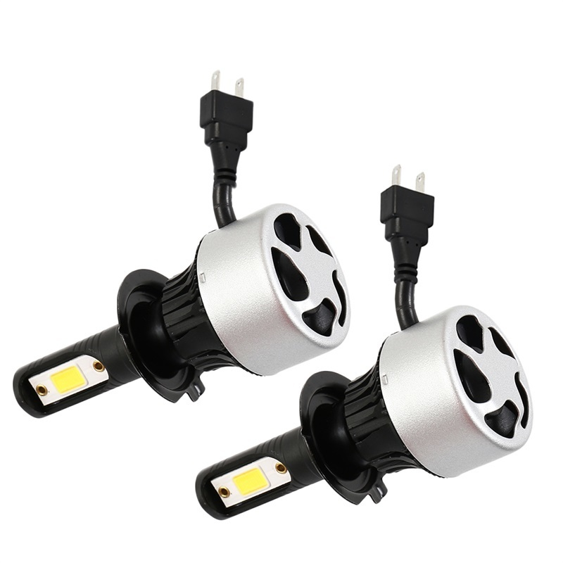 Nighteye H3 COB Chip LED Headlight Lamps Bulbs Car Conversion 9000LM 6500K 72W