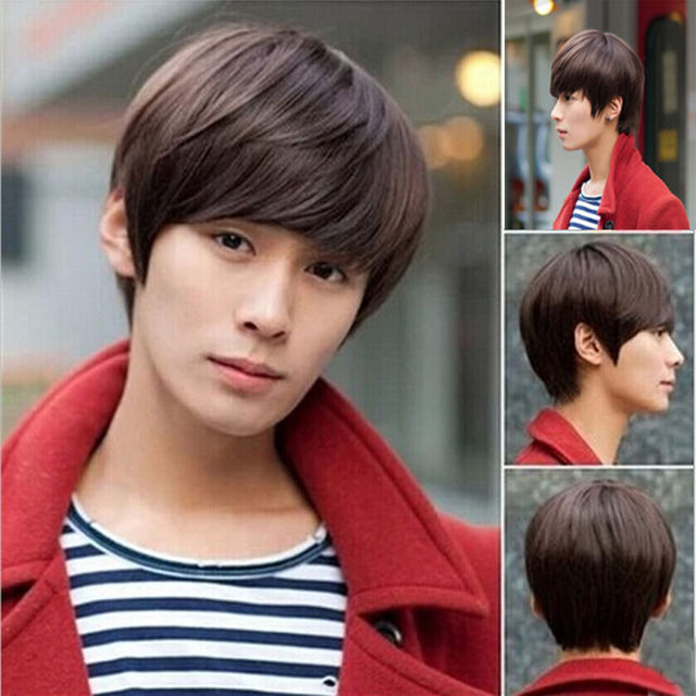 5ed5cbbb950 peruca hair queen cosplay Synthetic fibre queen New Handsome Boys Korean  Short Wig Vogue Sexy Men s