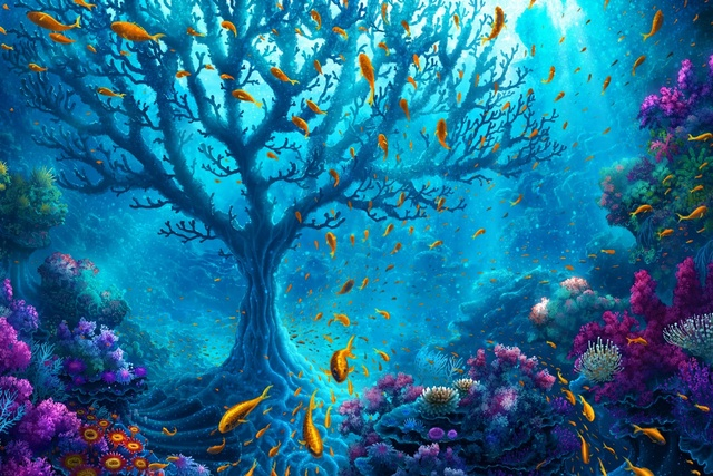 Harmony wildlife colorful ocean fish water marine reef for Applying the harmony to your living room paintings
